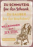 HARTUNG EDITION Zu schmutzig für den Schrank ... WORDS UP Postkarte