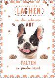 HARTUNG EDITION Lachen die schönste Art Falten zu produzieren IN TOUCH Postkarte
