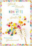 HARTUNG EDITION Herzlichen Glückwunsch / Konfetti für die Seele IN TOUCH Postkarte