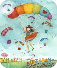 TRAUMTÄNZER Happy Birthday / Mädchen mit Fallschirm Postkarte