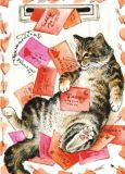 ACARDS Katze bekommt viel Post - Irina Garmashova Postkarte