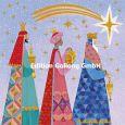 GOLLONG Drei Heilige Könige unter Sternschnuppe - Mila Marquis Postkarte