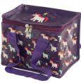 PUCKATOR Einhörner lila Gewebte Lunchbox Kühltasche