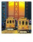 AQUAPURELLA Straßenbahn, San Francisco, USA - Bon Voyage Postkarte + Umschlag
