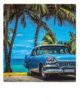 AQUAPURELLA Amerikanisches blaues Auto, Kuba - Bon Voyage Postkarte + Umschlag