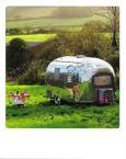 AQUAPURELLA Wohnwagen in Dorset, Großbritannien - Bon Voyage Postkarte + Umschlag