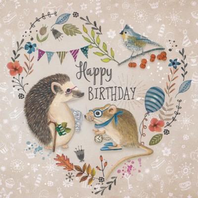 gollong happy birthday - igel & maus - cartita design