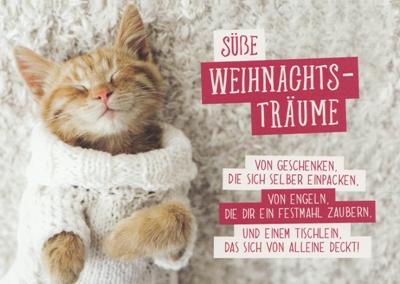 Süße Weihnachtswünsche.Gwbi Süße Weihnachtsträume Kätzchen Weihnachtswünsche Postkarte