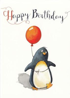 Gwbi Happy Birthday Pinguin Mit Luftballon Kleine Wunder Postkarte