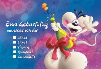 Diddl Zum Geburtstag A6 Postkarte