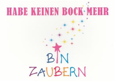 Rannenberg Habe Kein Bock Mehr Bin Zaubern Postkarte