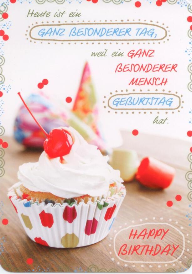 Hartung Edition Happy Birthday Muffin In Touch Postkarte