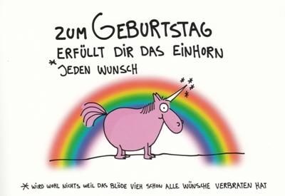 Rannenberg Zum Geburtstag Erfullt Dir Einhorn Jeden Wunsch Einhorn