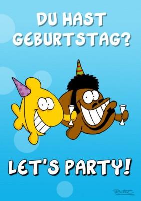 Ralph Ruthe Du Hast Geburtstag Lets Party A6 Postkarte