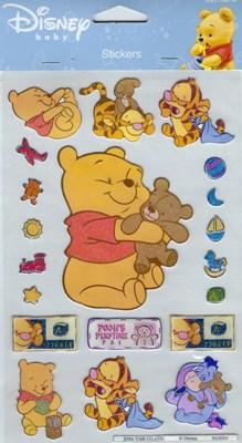 POSTLER Baby Winnie Pooh - Teddy Glitzer Sticker