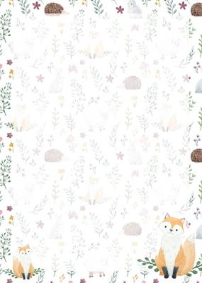As Tiere Füchse Fuchs Igel 10 Blatt A4 Briefpapier