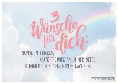 Grafik Werkstatt Weihnachten.Gwbi 3 Wünsche Für Dich Himmel Classic Line Postkarte