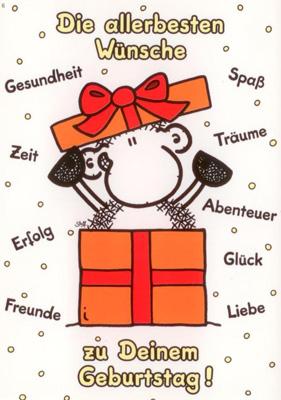sheepworld Die allerbesten Wünsche zum Geburtstag! Postkarte