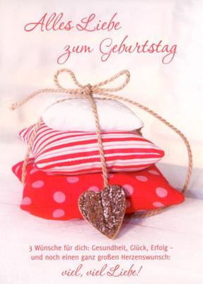 GWBI Alles Liebe zum Geburtstag - Herzenswünsche Postkarte