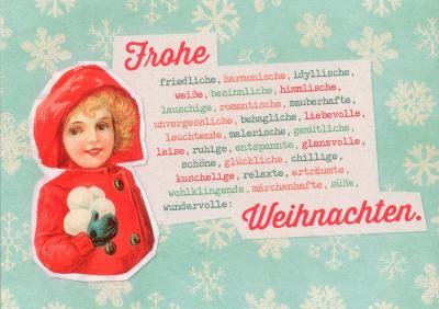Grafik Werkstatt Weihnachten.Gwbi Frohe Friedliche Weihnachten Weihnachtswünsche Postkarte