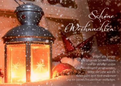 gwbi sch ne weihnachten laterne weihnachtsw nsche postkarte. Black Bedroom Furniture Sets. Home Design Ideas
