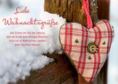 Weihnachtsgrüße Postkarte.Gwbi Weihnachtsgrüße Karoherz Weihnachtswünsche Postkarte