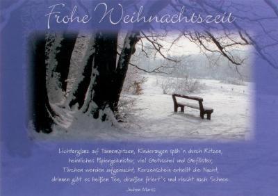 gwbi frohe weihnachtszeit winterbank weihnachtsw nsche. Black Bedroom Furniture Sets. Home Design Ideas
