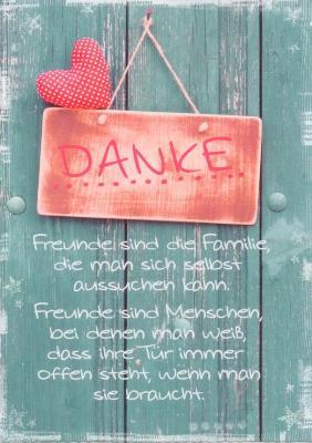 Hartung Edition Danke Freunde Sind Familie In Touch Postkarte