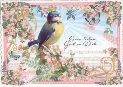 TAUSENDSCHÖN Einen lieben Gruß an Dich - Meise Postkarte