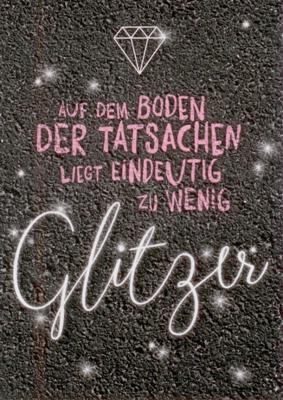 Rannenberg Zu Wenig Glitzer Postkarte
