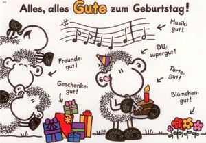 sheepworld Alles, alles Gute zum Geburtstag! Postkarte