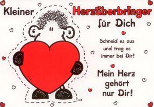 sheepworld Kleiner Herzüberbringer für Dich Postkarte