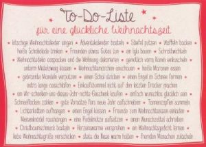 gwbi to do liste weihnachtsw nsche postkarte. Black Bedroom Furniture Sets. Home Design Ideas