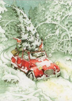 taurus kunstkarten frauen holen weihnachtsbaum inge l k. Black Bedroom Furniture Sets. Home Design Ideas