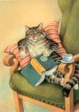 INKOGNITO Lesekatze - Reinhard Michl Postkarte
