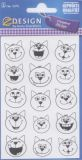 Z-Design black/white cats - Emoction stickers