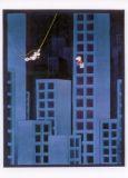 MT Tarzan zwischen Häusern - Mordillo Postkarte
