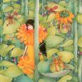TAURUS-KUNSTKARTEN Frau im gelben Kleid - Mila Postkarte