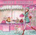 GOLLONG Happy Birthday / Frau mit Pudel - Cartita Design Postkarte