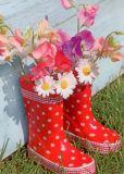 GOLLONG Blüten in Gummistiefeln - Martina Carmosino Postkarte