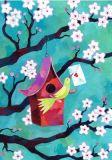 GRÄTZ Kirschblüten + Vogelhaus - Aurélie Blanz Postkarte