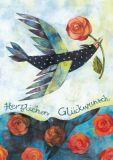 GRÄTZ Gefiederter Rosenüberbringer - Aurélie Blanz Postkarte