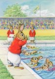 TAURUS-KUNSTKARTEN Rabbit Olympic Games - Audrey Tarrant Postkarte