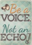 HARTUNG EDITION Be a voice - not an echo WORDS UP Postkarte