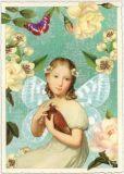 TAUSENDSCHÖN Mädchen / Elfe mit Vogel Postkarte