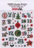 HobbyFun Adventszahlen II Hobby-Design Sticker