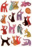 Herma Abstrakte Katzen Sticker