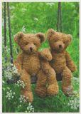 RANNENBERG Zwei Teddybären auf Schaukel Postkarte
