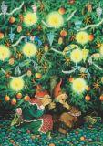 TAURUS-KUNSTKARTEN Frauen mit Weihnachtsbaum- Inge Löök Postkarte