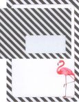 zartbesaitet Flamingo A5 Briefpapierset